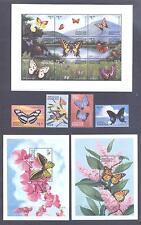 ANTIGUA & BARBUDA 1999, Butterflies, set of 4+MS+2SS, MNH**(51)