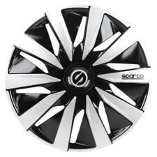 4er Satz Radkappen Sparco Lazio 16 Zoll schwarz-silber Radzierblenden VW Audi