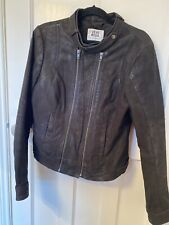 Vero Moda Women's Leather Biker Jacket Size Large Barely Worn