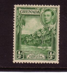 Grenada 1938 1/2d George VI Perf 12.5x13 MVLH SG153 Yellow Green VGC Cat £13.00