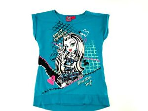 Monster High Frankie Stein Girls Blue Shirt Size Large 10/12