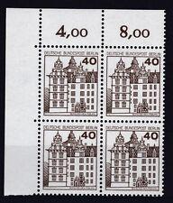 Berlin  1980 postfrisch Eckrand oben links MiNr. 614 Burgen und Schlösser