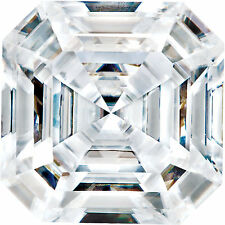 2 Ct Forever One Moissanite Loose Stone Asscher Cut 8 mm