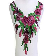 Embroidered Lace Neckline Collar Lace Applique Motif Patches Venice Venise