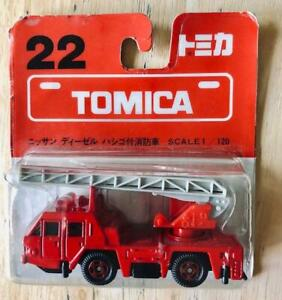 TOMY TOMICA No.22 NISSAN DIESEL AERIAL LADDER FIRE TRUCK ~ BLISTER ~ NEW SEALED