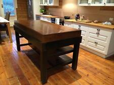 HALF DINING TABLE & SHELVES room for 3 STOOLS   BUTCHERS BLOCK  AS ON MASTERCHEF