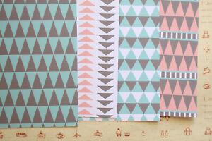 Mint Grey & Pink Tribal Patterns scrapbooking paper 250gsm fancy craft cardstock