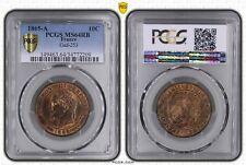 O1874 EXCEPTIONNELLE 10 Centimes Napoléon III 1865 A Paris SPL PCGS MS64 CI !!