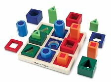 Brand New - Melissa and Doug Wooden Shape Sequence Sorting Set - 3+ years