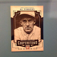 AL SIMMONS #2 PHILLIES 23/25 MADE Blue Parallel 2015 PANINI COOPERSTOWN HOF