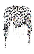 Ladies Mermaid Shawl Sea Siren Magical Halloween Fancy Dress Sequin Net Wrap