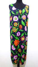 CULT VINTAGE '70 Abito Vestito Donna Jersey Flower Woman Dress Sz.L - 46