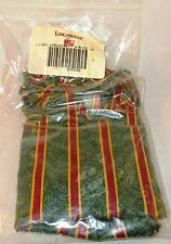 New Longaberger Green Imperial Stripe 1995 Cranberry Christmas Basket Liner Only