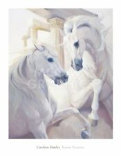 Roman Treasures by Carolyne Hawley Art Print Gray Mane Horse Poster 36x28