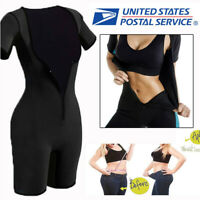 US Neoprene Sauna Waist Trainer Trimmer Sweat SUIT Corset Body Shaper Fat Burner