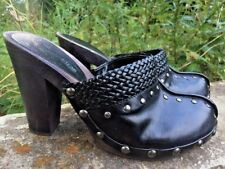 SALE @ TWO LIPS Studded Black Clogs Mules SEXY Pumps High Heel Shoes Womens Sz 8