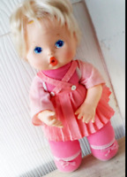"""🔴 Reduced $$ TESTED WORKS 13"""" Vintage 1980 Kenner Wipe Your Tears Baby Doll"""