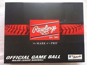 1 Dozen 12 Rawlings Official Leather Major League Baseball Box MLB ROMLB MANFRED