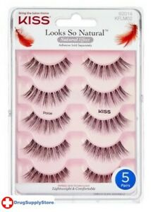 BL Kiss Looks So Natural Lashes Poise 5-Pairs - Two PACK