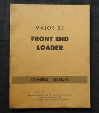 C1950 Ford Fordson Major Tractor Model 25 Front End Loader Operators Manual