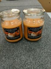 Candle Lite Co Pumpkin Buttercream 19 OZ. Lot of Two Large First Quality!