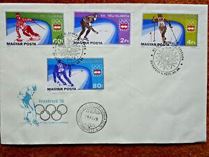 8474) Ungarn: FDC Schmuckumschlag Olympia Winterspiele Innsbruck 1976