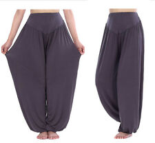 Women Baggy Harem Pants Trousers Aladdin Hippie Ali Baba Yoga Gym Loose Leggings