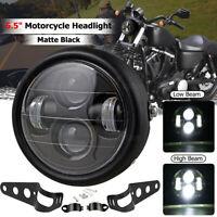"""6.5 """" Moto Phare LED Lampe Hi/Lo Faisceau avec Support pour Harley Café Coureur"""