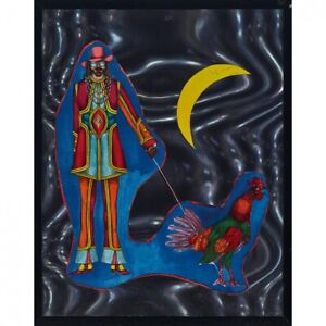 RICHARD LINDNER MIXED-MEDIA COLLAGE St. Mark's Place from Fun City