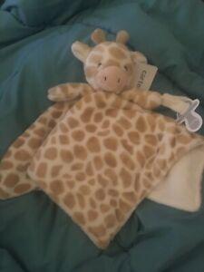 Carters Giraffe Tan White Lovey Pacifier Holder Plush NWT Security Blanket