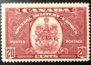 CANADA 1938 # E8 - 20cent DARK CARMINE - SPECIAL DELIVERY - MNH
