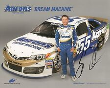 BRIAN VICKERS signed NASCAR DRIVER CARD with COA
