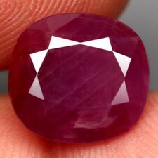 8.18 Ct. Unheated Ruby Natural Antique Facet Pinkish Red Gorgeous Mozambique