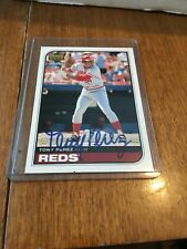 1998 UD Retro Autographed Sign Of The Times of Reds HOF great Tony Perez