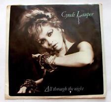 Cyndi Lauper All Through The Night 1984 Pop Rock 45 RPM Pic Slv Strong VG+