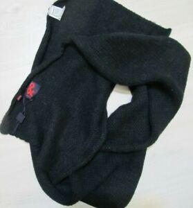 DOLCE & GABBANA Alpaca Lana scarf black Long wool scarf