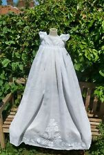 ANTIQUE CHRISTENING GOWN DRESS WHITEWORK EXCEPTIONAL EMBROIDERY COTTON LAWN