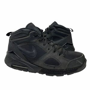 2009 Nike AirMax ACG Abasi Mens Size 11 Hiking Shoes Boots Triple Black
