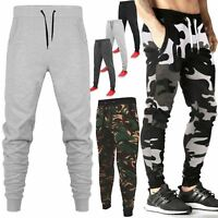 MENS SLIM FIT SKINNY JOGGING BOTTOM TRACKSUIT JOGGERS TROUSERS STRETCHY GYM PANT