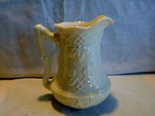 L. Godinger & Co. Ivory Colored Leaf Embossed Porcelain Creamer/Pitcher