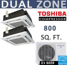18000 BTU Ductless Mini Split Air Conditioner : 9000x2 - Ceiling Cassette