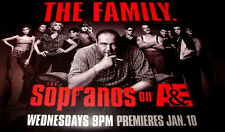 The Sopranos THE FAMILY Orig Poster Widescreen 4'x 5'Rare 2007 MINT