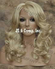 WAVY Layered Brand New Style Pale Blonde Wig JSBD 613
