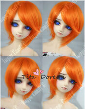 Bjd Doll Wig 1/3 8-9 Dal Pullip AOD DZ AE SD DOD LUTS Dollfie short orange  Hair