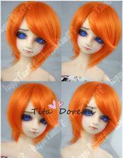 Bjd Doll parrucca 1/3 8-9 Dal Pullip AOD DZ AE SD DOD LUTS Breve orange  Hair