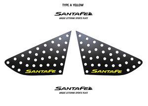 Rear Glass C Pillar Sports 3D Plate Yellow For 13 2014+ Hyundai Santa Fe Sport