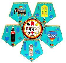 """Zippo globo """"Special shape"""" pin/Pins - 6er rompecabezas/Cup cortezas 2006 [3730]"""