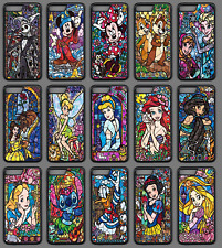 STAINED GLASS DISNEY CHARACTER Phone Case Cover Black iPhone 4 5 SE 6 7 8 X Plus