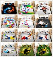 3D Football Player Soccer Sports Duvet/Quilt/Doona Cover Bedding Set Pillowcase