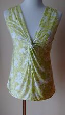 Victoria's Secret Lime Green & White Sleeveless Top Size: Large Mint Condition